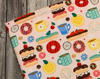 XL Cafe Sweets Padded Sleeve for Books, Tablets, and Devices- Fits up to 9x11in - Book Protector