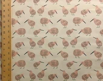 Kiwi kiwi kiwi - Cotton Fabric by 1/2 Yard