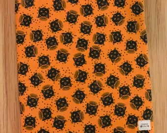 XL Moony black kitties padded sleeve for books, tablets, and devices