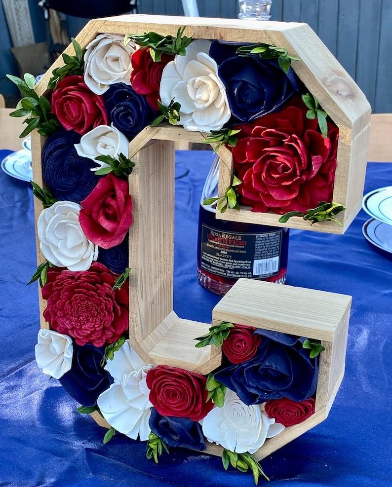 13 Rustic Initial Letter Planter  Letter Shadow Box  Wedding Letter  Wedding Decor  Birthday Decor  Baby Room Decor