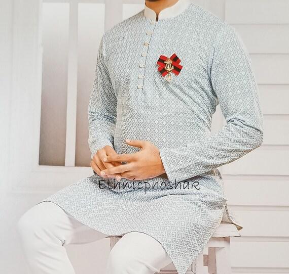 Traditional Kurta Pajama for Men Indian Designer Wedding Partywear Royal Outfit Traditional Ethnic India Dress kurta pajama for men