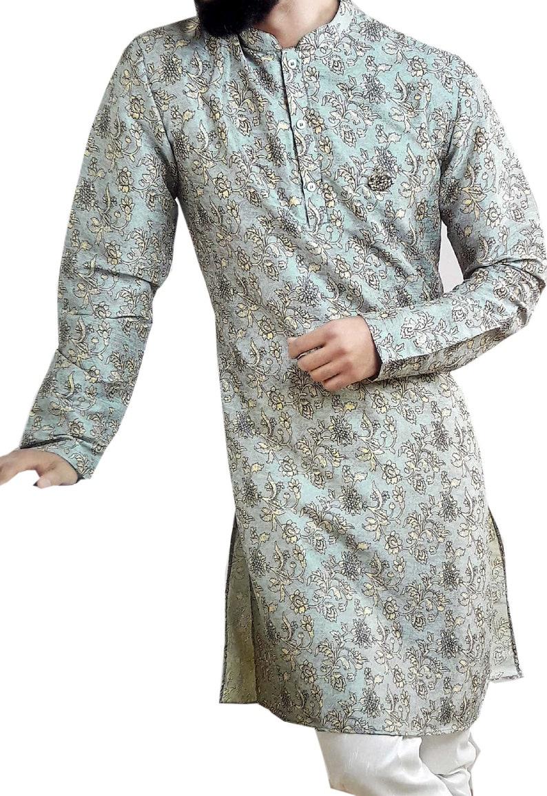Indian Designer Traditional Stylish Kurta Pajama Self Printed Wedding Party Wear Kurta Pajama For Men