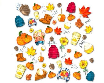 Fall PNG, Favorite things, hoodie png, sunflower png, boots png, pumpkin spice png, fall y'all, leaves digital download, commercial use,