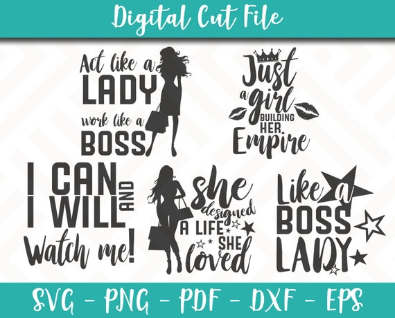 Boss Lady Svg Bundle 5 Svg Pack Boss Lady Svg File Boss Lady Sayings Boss Lady Quotes Svg For Cricut Instant Download Boss Lady Shirt