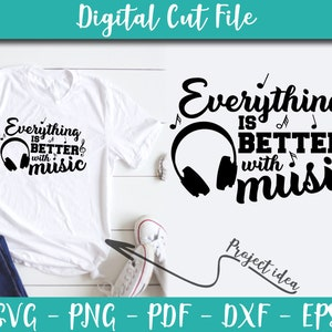 Where Words Fail Music Speaks SVG File Music Sayings Music Quotes Svg for Cricut INSTANT DOWNLOAD Music Shirt Iron on Transfer Music n417