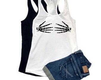 3670b574fd skeleton hands bra XS-XXL Tank top shirt Women s party