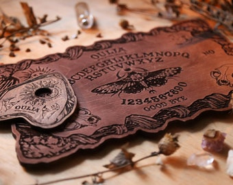 Wooden ouija board | Occult game board | Spirit board | Halloween gift | Talking board | Ouija game | Plywood gothic decor
