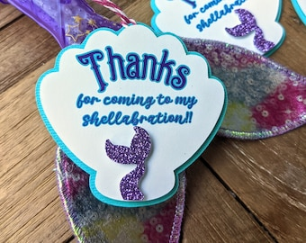 Mermaid Birthday Thank You Party Favor Tags
