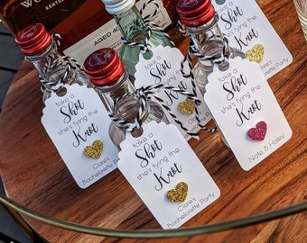 Bachelorette Party, Shower or Wedding Reception Shot Tags: Hearts, Rings or Boots
