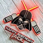 Darth Vader Happy Birthday Cake Topper