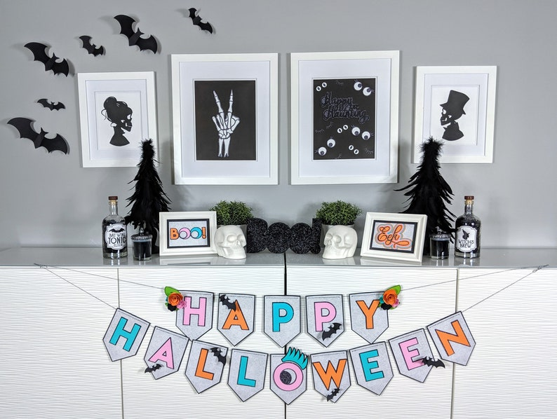 Halloween Decoration Package Dot Pastel Letters