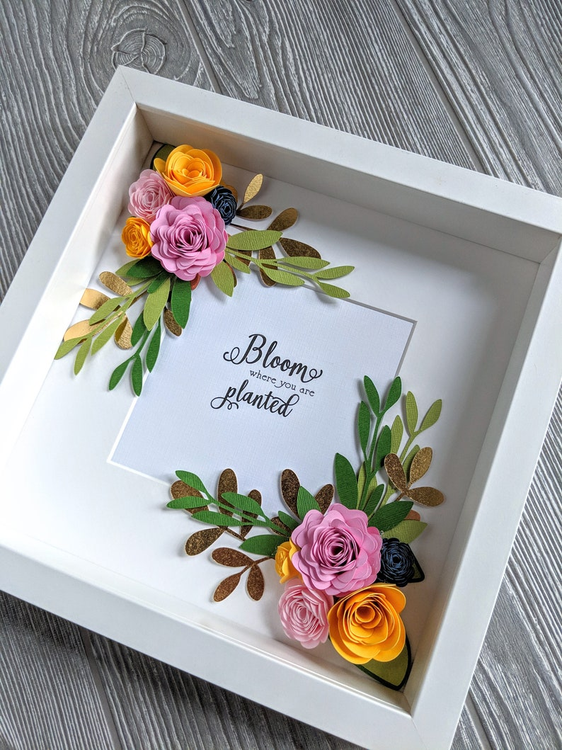 Bloom Where You Are Planted Shadowbox image 0