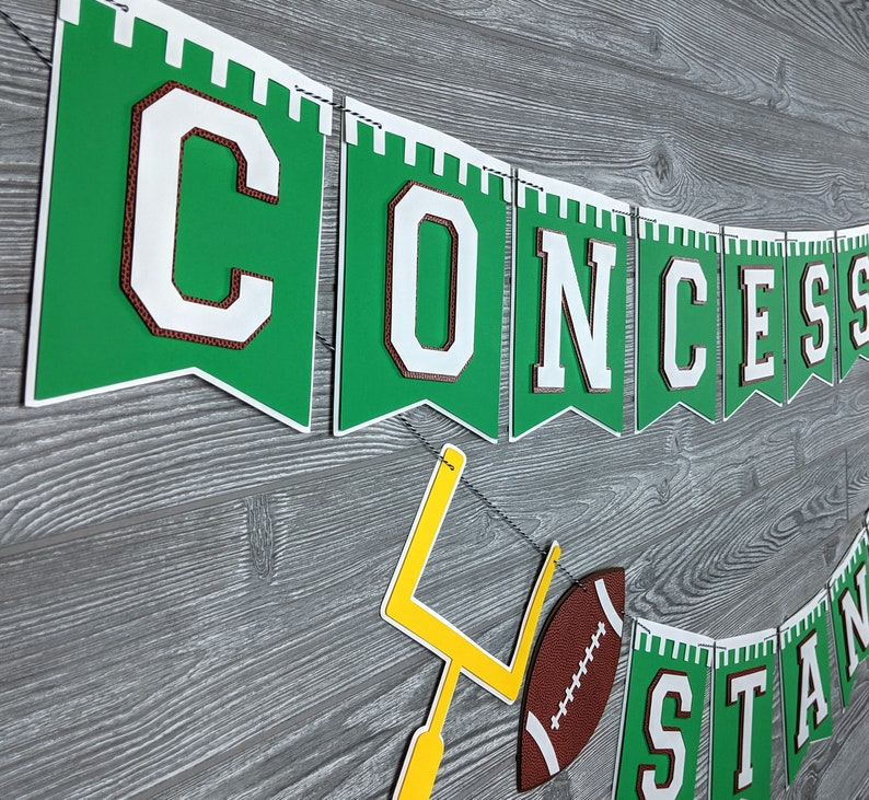 Green Football Banner or Bunting: Birthday Superbowl image 0