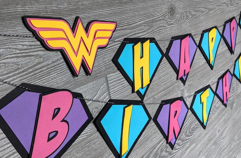 Super Hero Happy Birthday Banner image 0