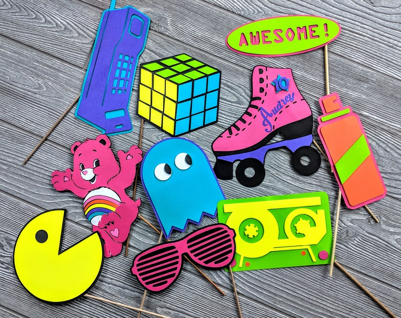 1980s Photo Props Customized or Personalized Neon Colors