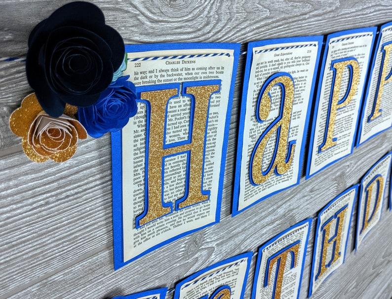 Bookworm Happy Birthday Banner image 0