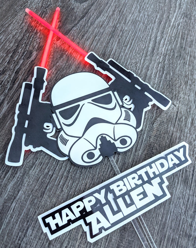 Stormtrooper Star Wars Cake Topper image 0