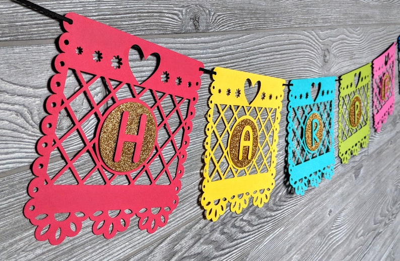 Papel Picado Inspired Paper Banner image 0