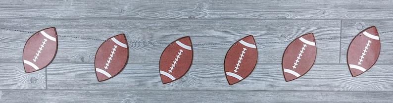 Football Bunting or Banner: BIrthday Superbowl Tailgaiting image 0