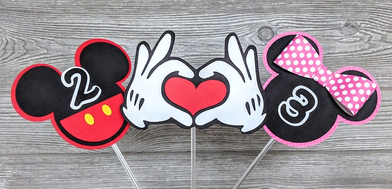 Mickey Mouse and Minnie Mouse Birthday Centerpiece or Flower image 0