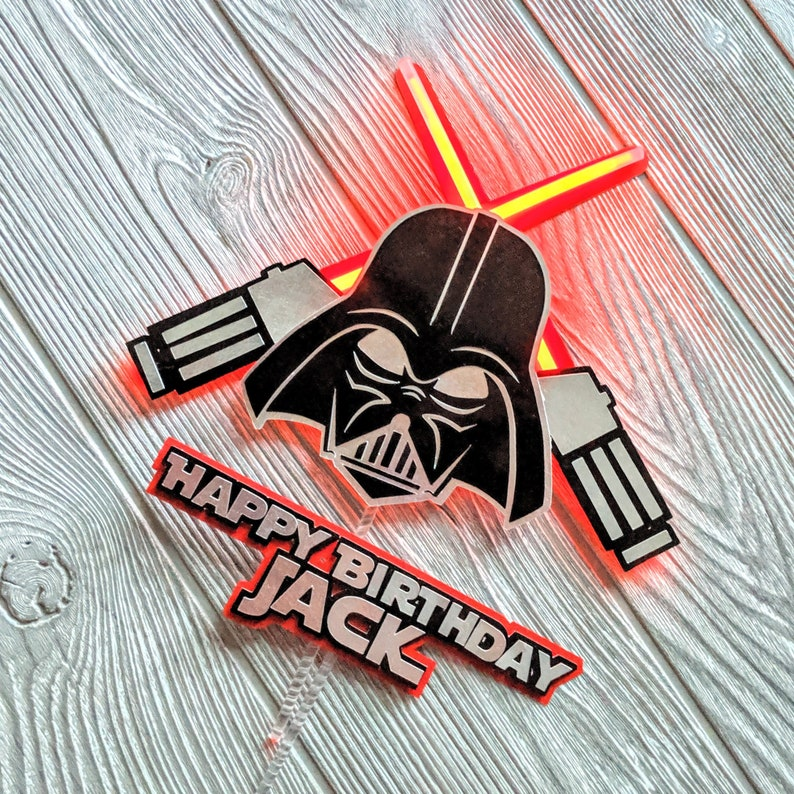 Darth Vader Happy Birthday Cake Topper image 0