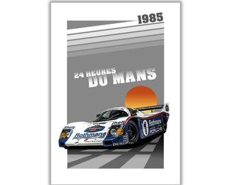 Poster/Print of Porsche 962 Rothmans | 24 HEURES DU MANS 1985