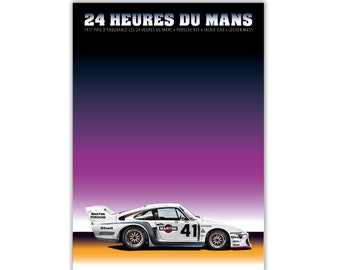 Poster/Print of Porsche 935 Martini | 24 HEURES DU MANS 1977
