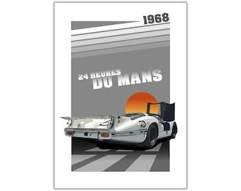 Poster/Print of Porsche 908 Langheck | 24 HEURES DU MANS 1968