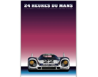 Poster/Print of Porsche 917 K Martini | 24 HEURES DU MANS 1971