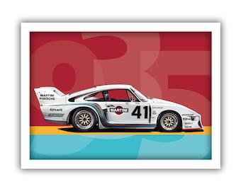 Poster/Print of Porsche 935 Martini | LANDSCAPE 935