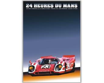 Poster/Print of Porsche 917 | 24 HEURES DU MANS 1970