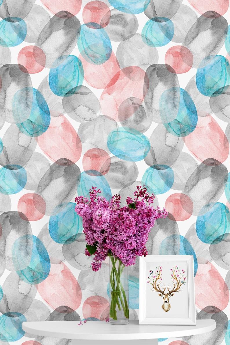 Peel /& Stick Mural Adhesive Wallpaper Nursery Decor Watercolor Jellyfish Bubbles Self Removable Wallpaper