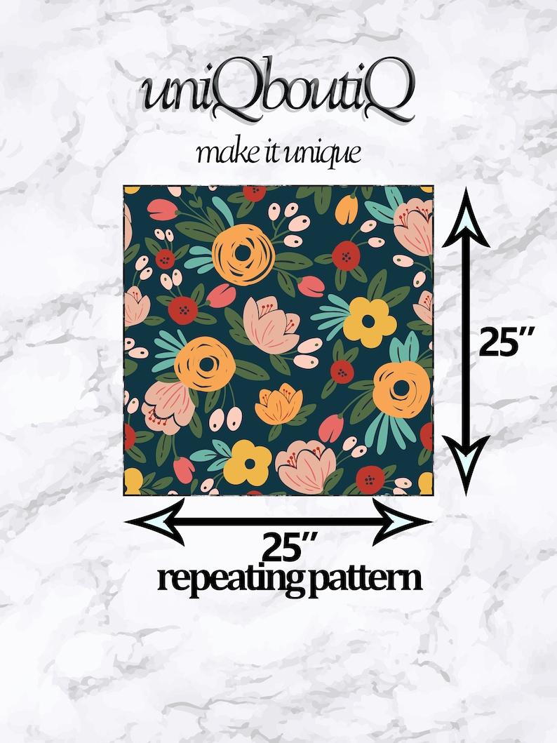 Multicolor Flowers Nursery Decor Self Peel /& Stick Mural Adhesive Wallpaper Removable Wallpaper