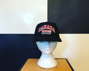 a6b3d23db6e8e6 Vintage CCM Canada Hockey Snapback Hat