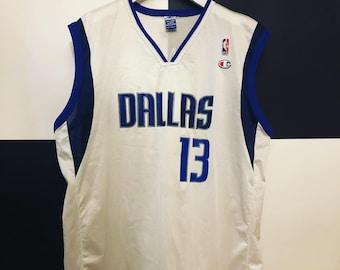 376140d0921 Vintage Champion Dallas Mavericks Steve Nash Basketball Jersey Size XXL (52)