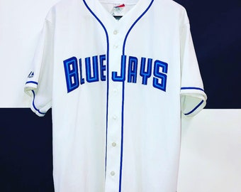 f0c41824100 Vintage Toronto Blue Jays Carlos Delgado Baseball Jersey
