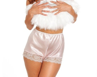 c89572d7e9 Jane Lace Trim Satin French Knicker – Cadillac Pink