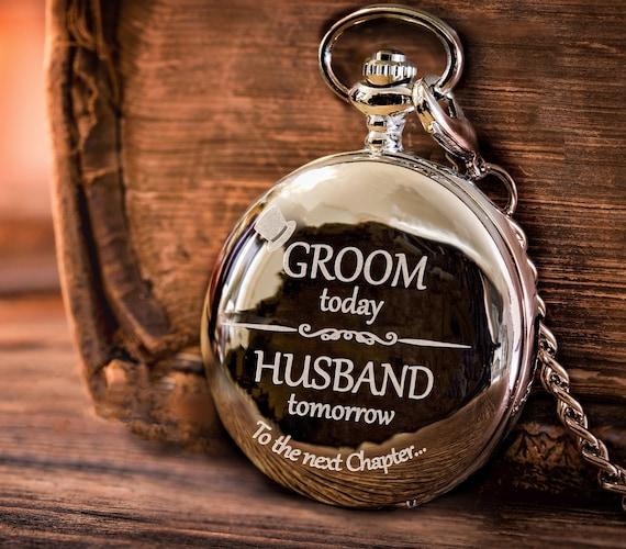 Groom Gifts Groom Groom Pocket Watch Groomsmen Gifts Etsy