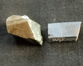 Collectible specimen, Raw pyrite and galena 2 small top quality pyrite and galena