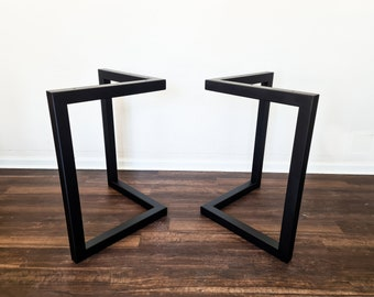 Modern L shaped Metal Table legs, Dining Table Legs, coffee table legs, welded table legs, Metal Table Base with Powder Coating  Paint