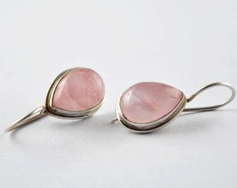 Designer Pink Quartz Gemstone Pendant Earring Set Gift For Her Women Jewellery Set Best Price FSJ-2188 925 Solid Sterling Silver Earring