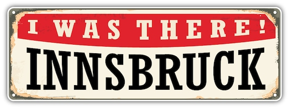 "Innsbruck City Tyrol Austria Grunge Travel Car Bumper Sticker Decal 5/"" x 5/"""