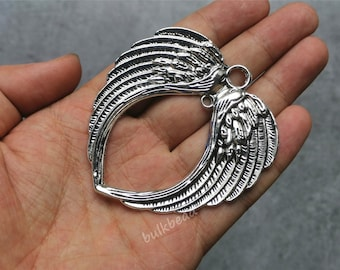 Wholesale 36pcs Tibet Silver wing Necklace Charm Pendant beads Jewelry Making —