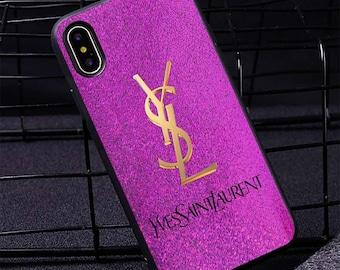 010e9ea3e8a Custom iPhone Xs Max Samsung S10 Plus Xr case X 8/8 Plus 7/7+ 6S Plus Case  YSL Pink S10 Case S9 Plus S8+ S7 Edge Note 9 8 7 5 Cover