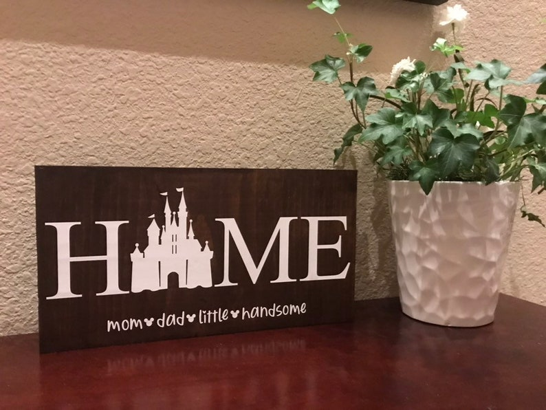 22 Disney Gifts for Mom featured by top US Disney blogger, Marcie and the Mouse: Disney Sign Home Wood Personalized Birthday Gift Disney image 0