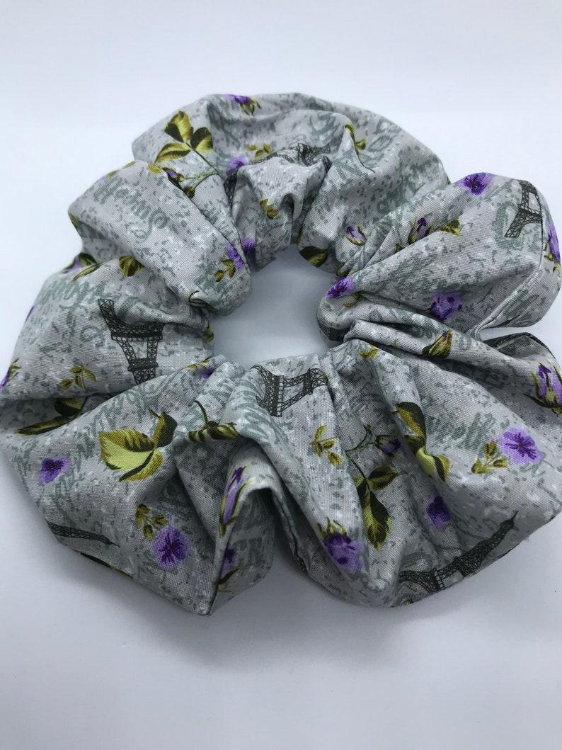 Mega big scrunchie with bowParis printdaily weargift for hergift for friendshair tieshair styleelasticponytailhair decoration