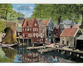 Miniature Netherlands Holland Michigan Postcard