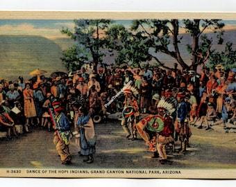 Dance of the Hopi Indians Grand Canyon National Park Arizona Postcard