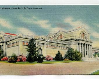 Art Museum Forest Park St Louis Missouri Postcard