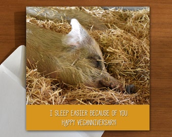 I sleep easier because of you | veganniversary | vegan | vegetarian | plant-based